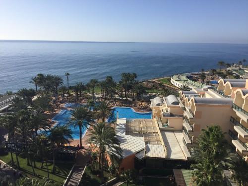 Utsikten från vårt hotellrum i Bahia Feliz