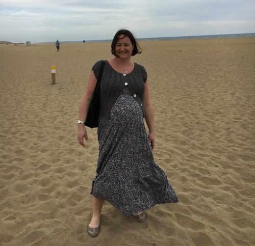 Hanna på Playa del Maspalomas