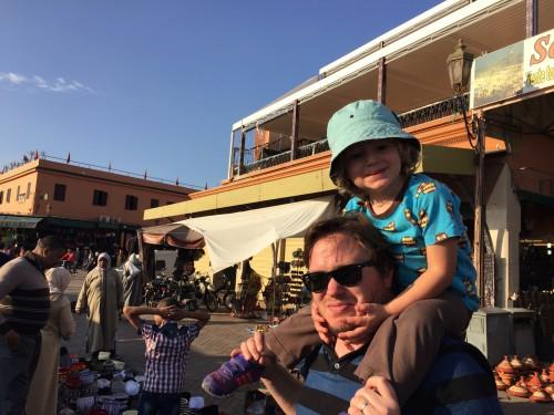 Djemaa el Fna-torget i Marrakech