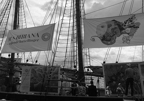 Konstbåt i Köpenhamn