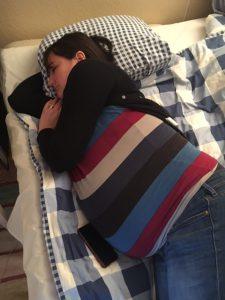 Sovande gravid kvinna (jag).