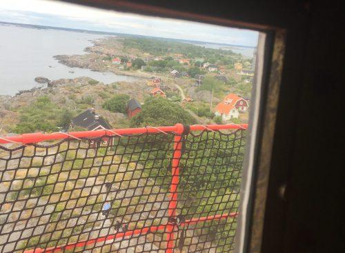 Utsikt från ett fönster i Landsorts fyr