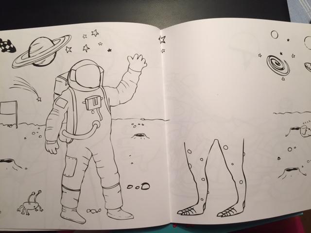 Astronaut att färglägga