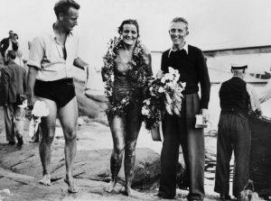 Sigge Bergman, Sally Bauer och Staffan Tjerneld 1938