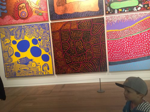 Hugo och Yayoi Kusamas konst