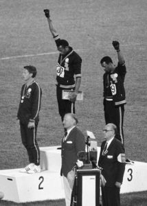 John Carlos, Tommie Smith och Peter Norman 1968