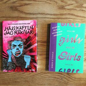 En bild av böckerna Håll käften jag räknar av Julia Skott och Girl will be girls av Emer O'Toole.
