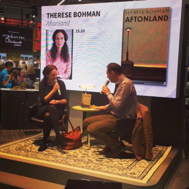 Therese Bohman på bokmässan 2016