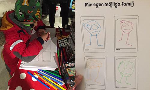Hugo ritar sin möjliga familj