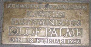 Olof Palme minnesmärke