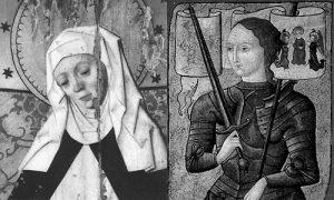 Den heliga Birgitta och Jeanne d'Arc