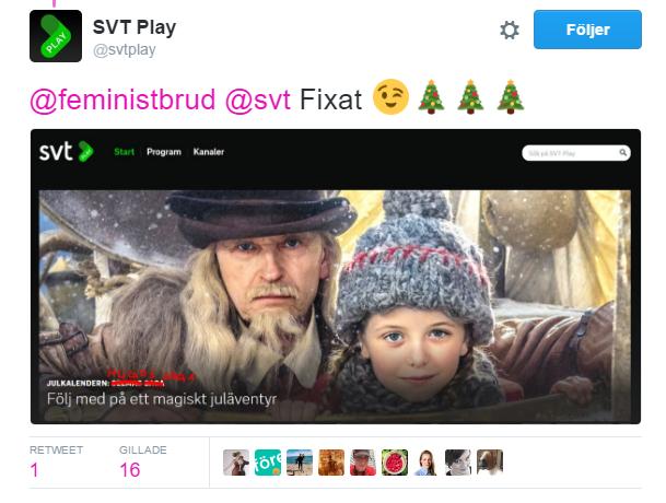 SVT Play fixar titeln på Twitter