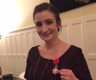Brigtitta Ohlsson med medaljen