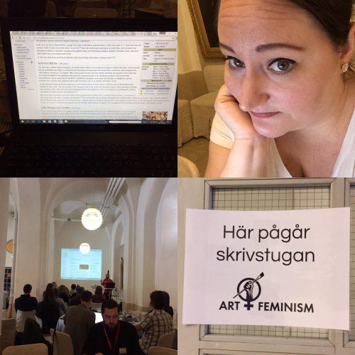 Jag på Art + feminism