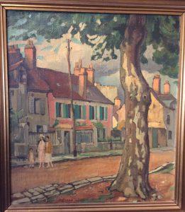 Målning av Einar Wegener på Millesgården