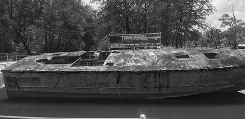 Militärbåt som minnesmärke över tsunamin