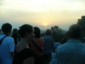 Angkor Wat i solnedgång