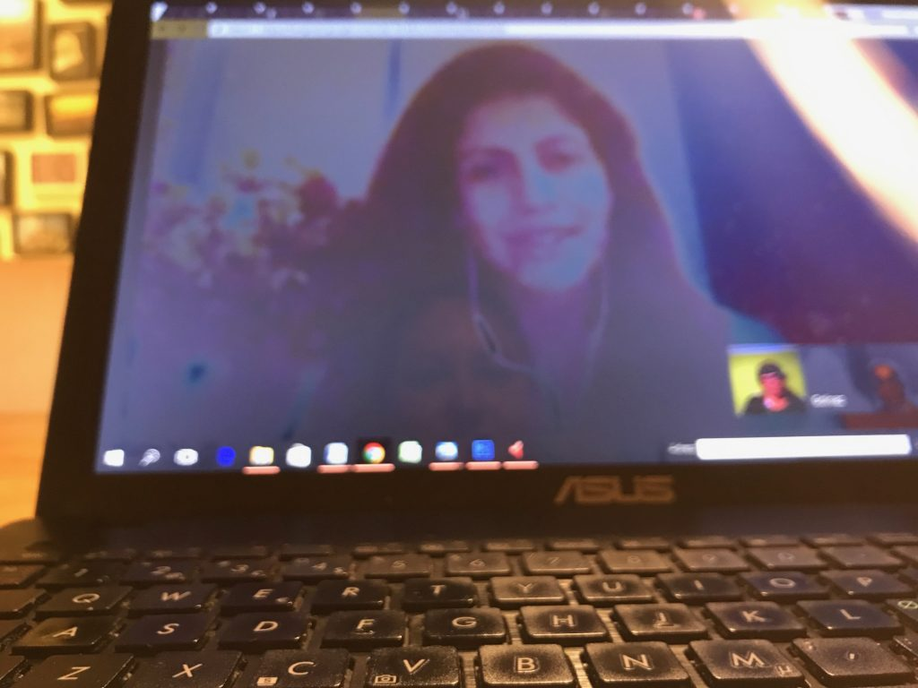 Google hangout med Golnaz Hashemzadeh Bonde