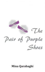 The pair of purple shoes