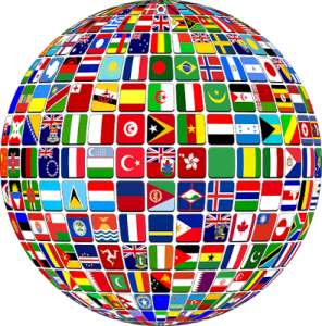 Glob med flaggor
