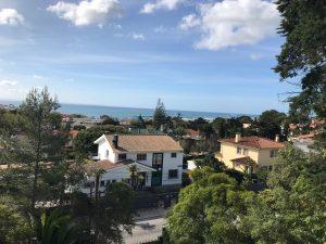 Utsikt från vårt hus i Cascai