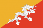 Bhutans flagga