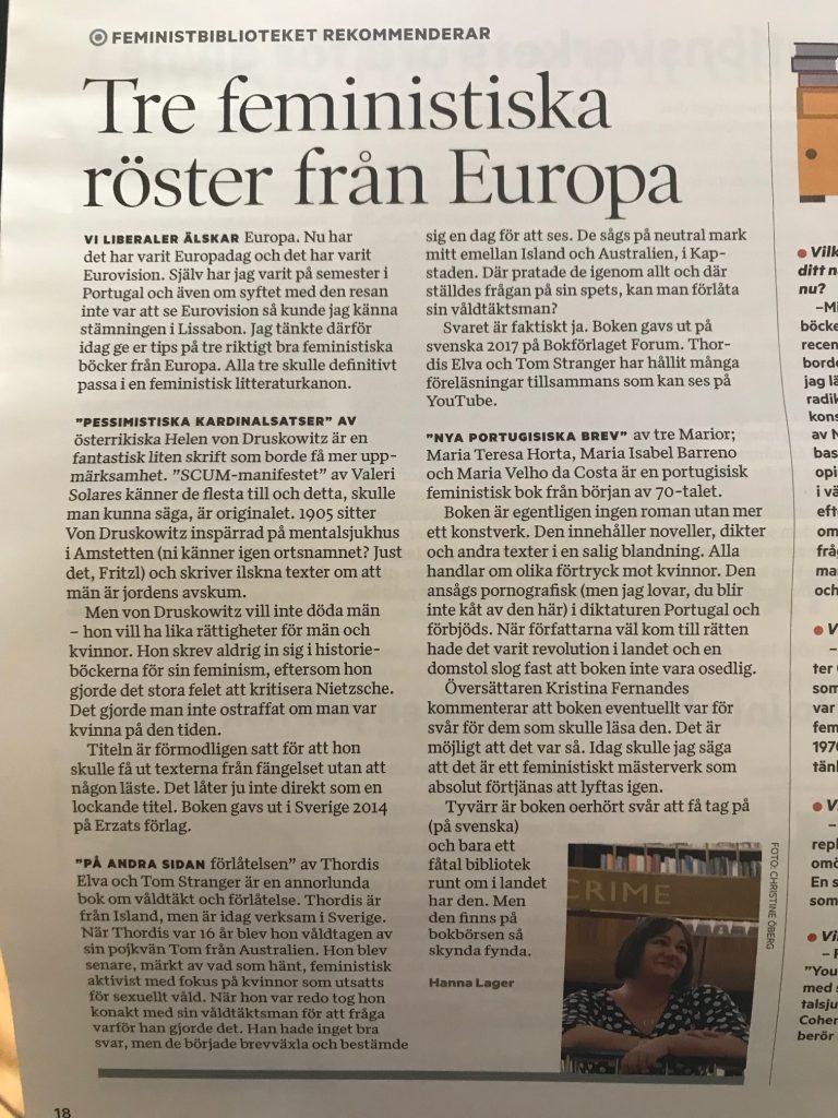 Europeiska böcker i Tidningen nu