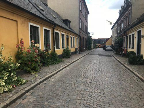 Pittoreska gator i Lund