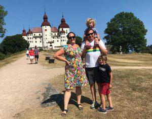 Familjebild från Läckö 2018