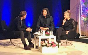 Sara Stridsberg och Jonas Hassen Khemiri på Bokmässan 2018