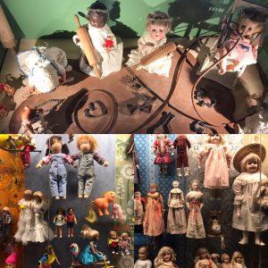 Dockor på leksaksmuseet