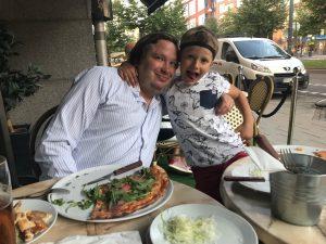 Andreas och Hugo på Hugos 7-årsdag