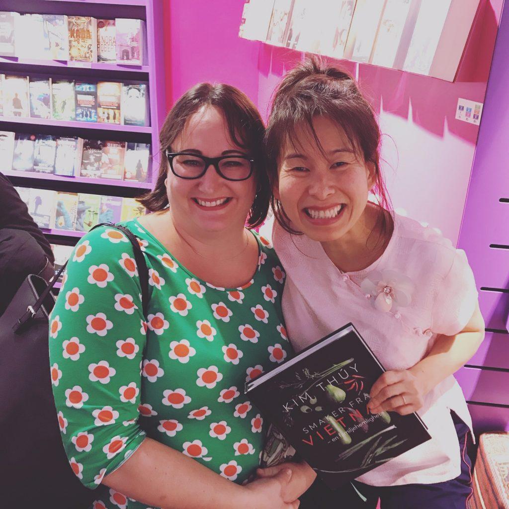 Jag och Kim Thúy på Pocketshop
