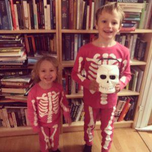Selma och Hugo på Halloween 2018