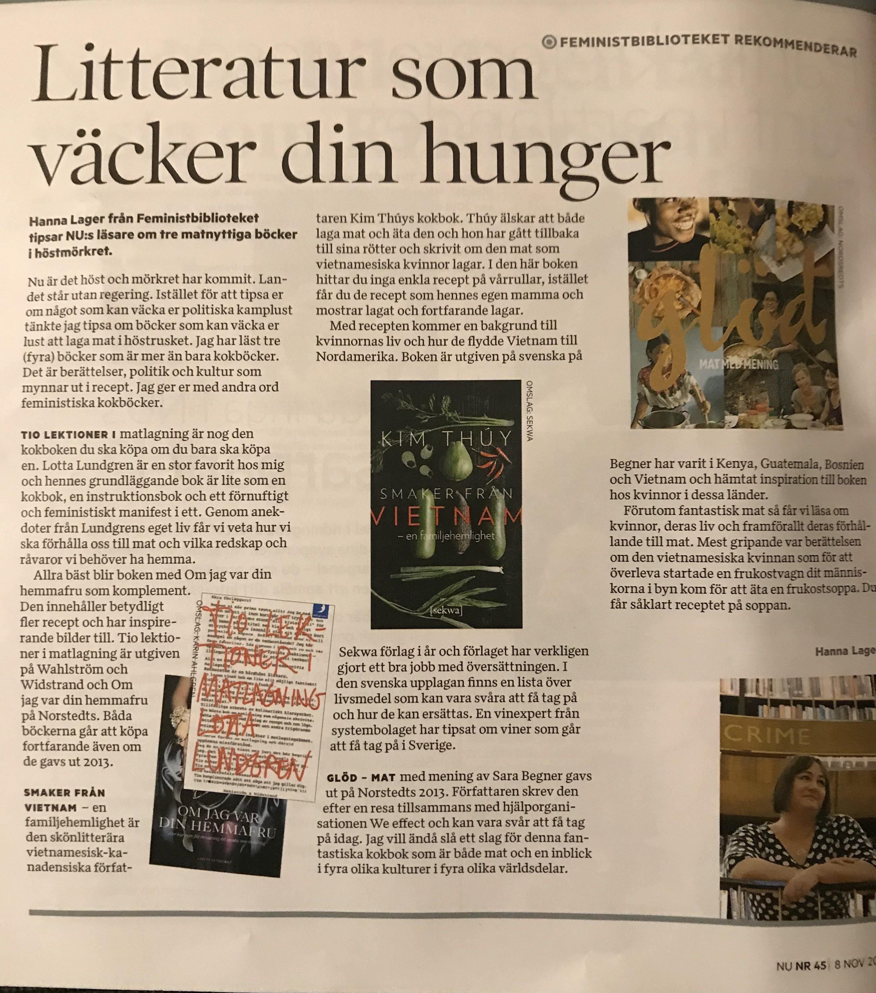 Kokböcker i Tidningen Nu