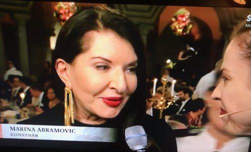 Marina Abramovic på nobelfesten 2018
