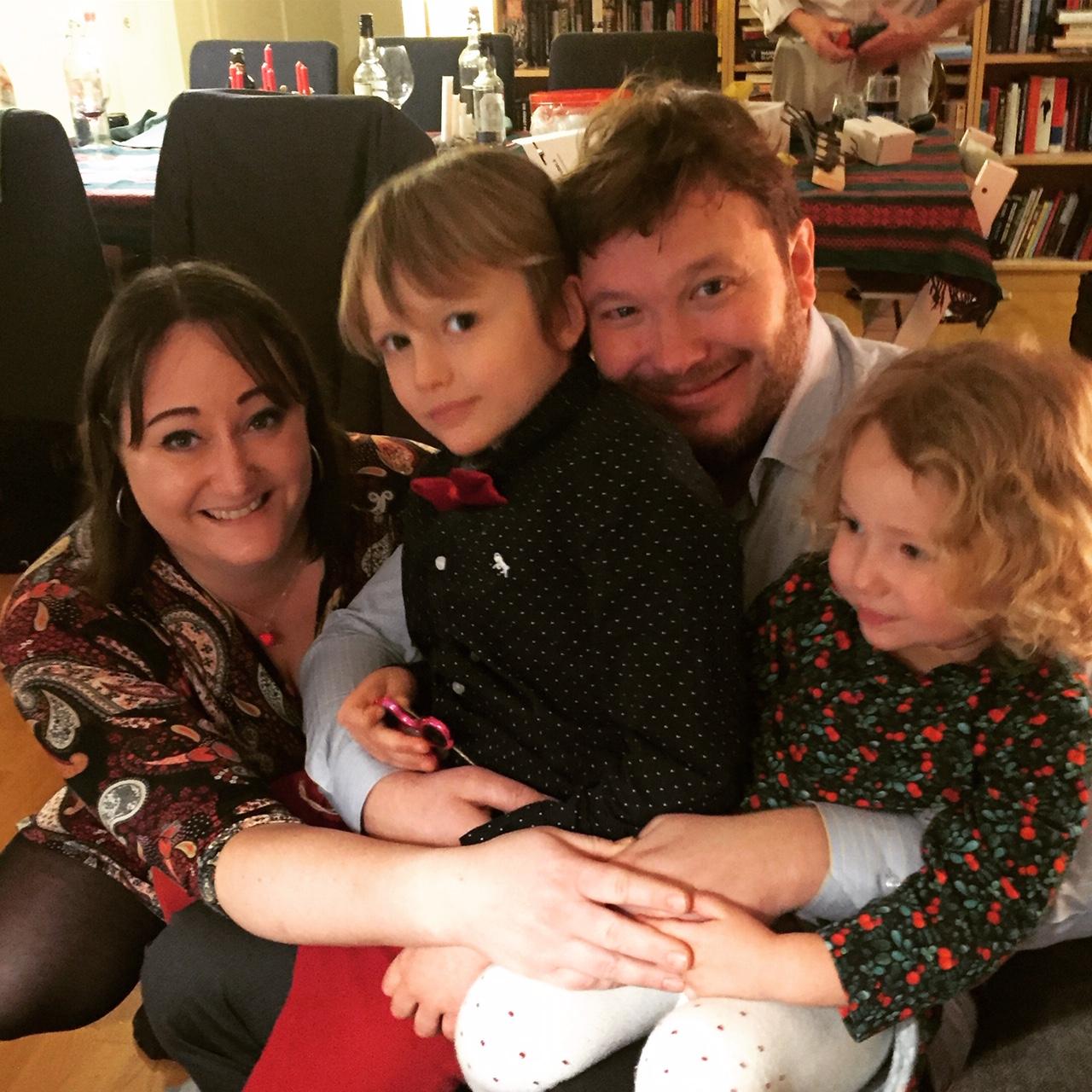 Hela familjen Lager-Ericson. Julafton 2018.