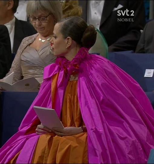 Sara Danius på Nobelfesten 2018.