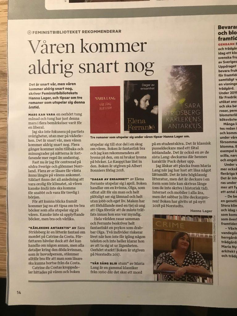 Vårböcker i Tidningen Nu