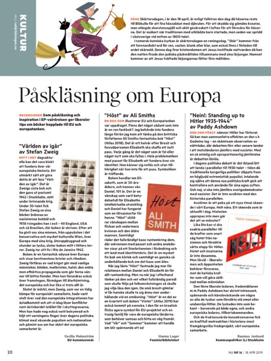 Bok om Europatanken i Tidningen Nu