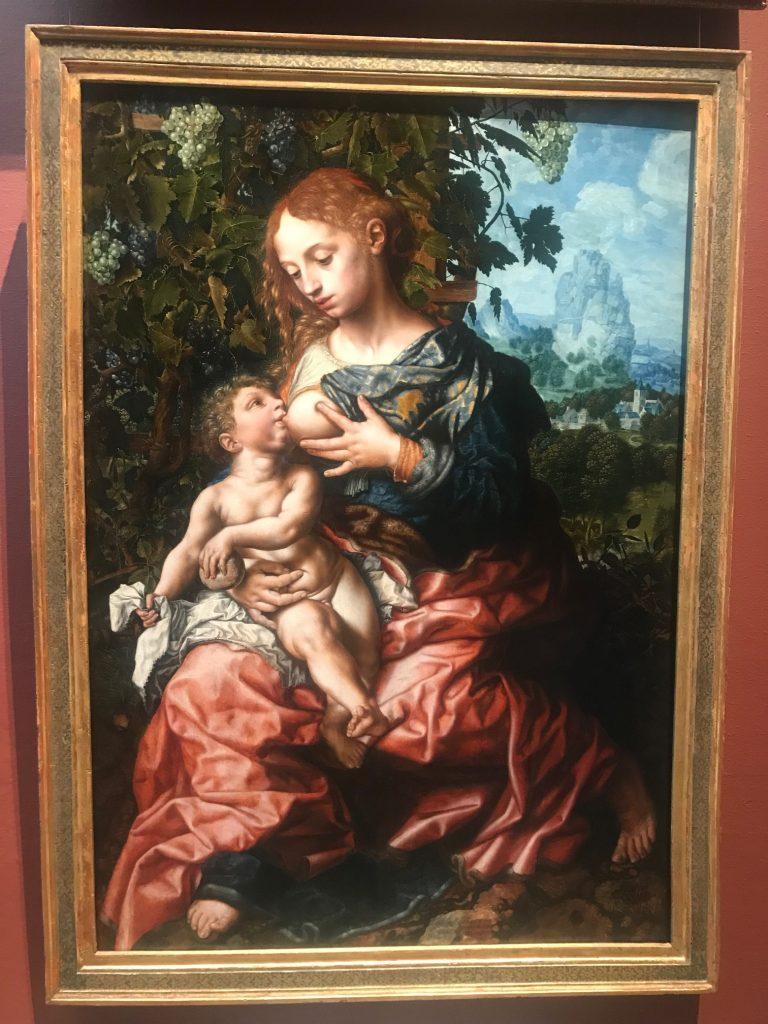 Jungfru Maria och Jesusbarnet av Jan Sanders van Hemessen.