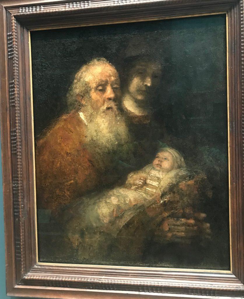Simeon och Jesusbarnet av Rembrandt