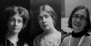 Emmeline, Sylvia och Helen Pankhurst