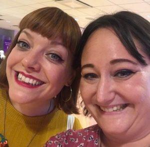 Selfie med Kate Davies på bokmässan 2019
