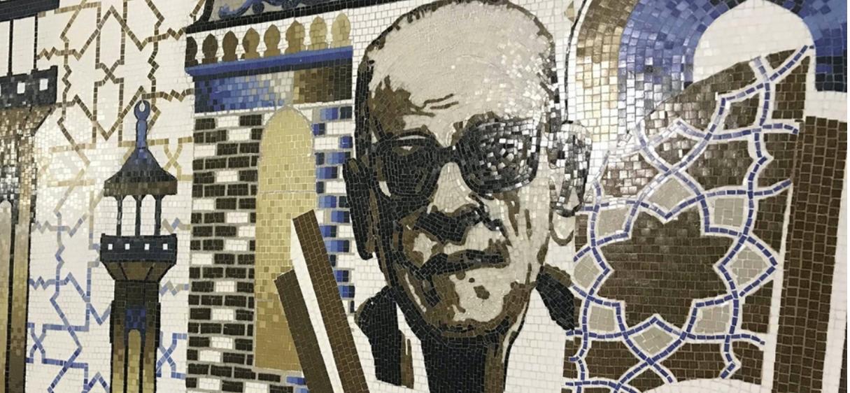 Naguib Mahfouz i mosaik