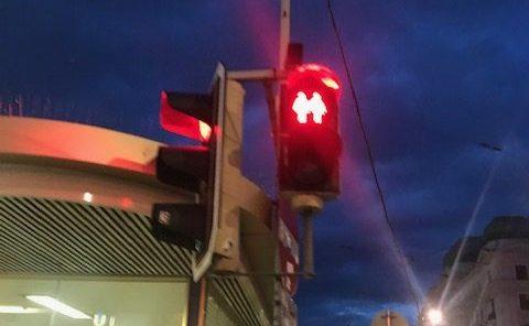 Alla gillar olika-tema på trafikljusen i Wien