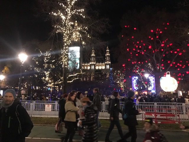 Julmarknad vid Rathaus
