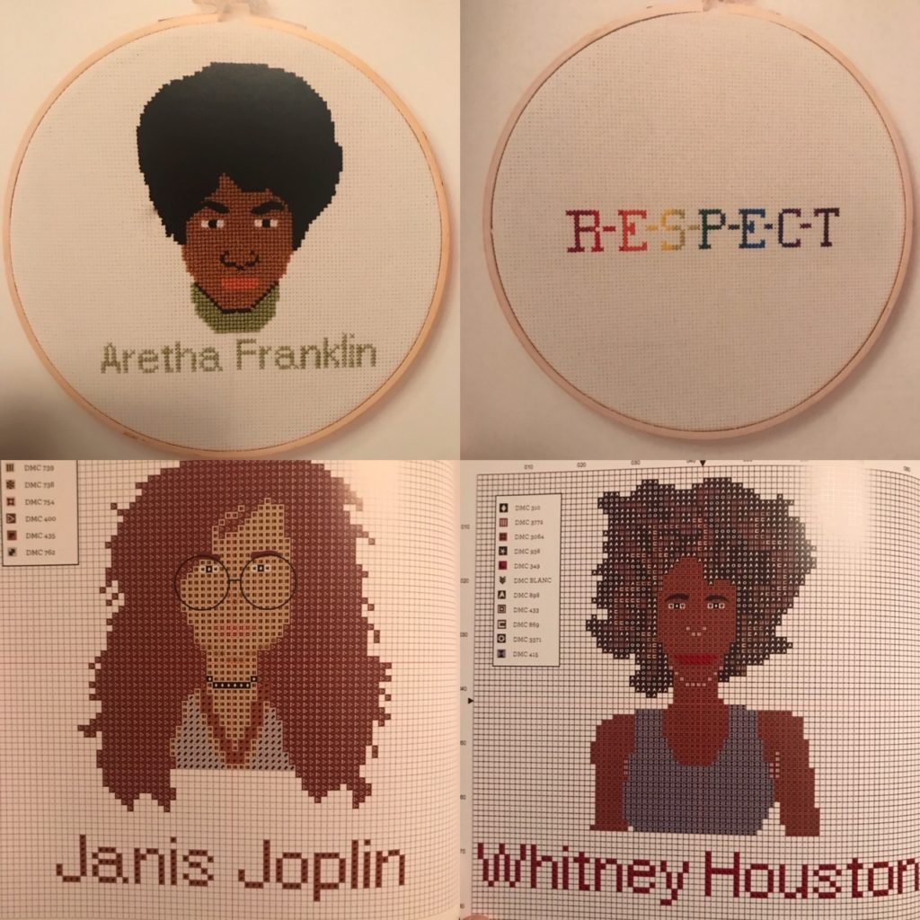 Women who rock cross-stitch