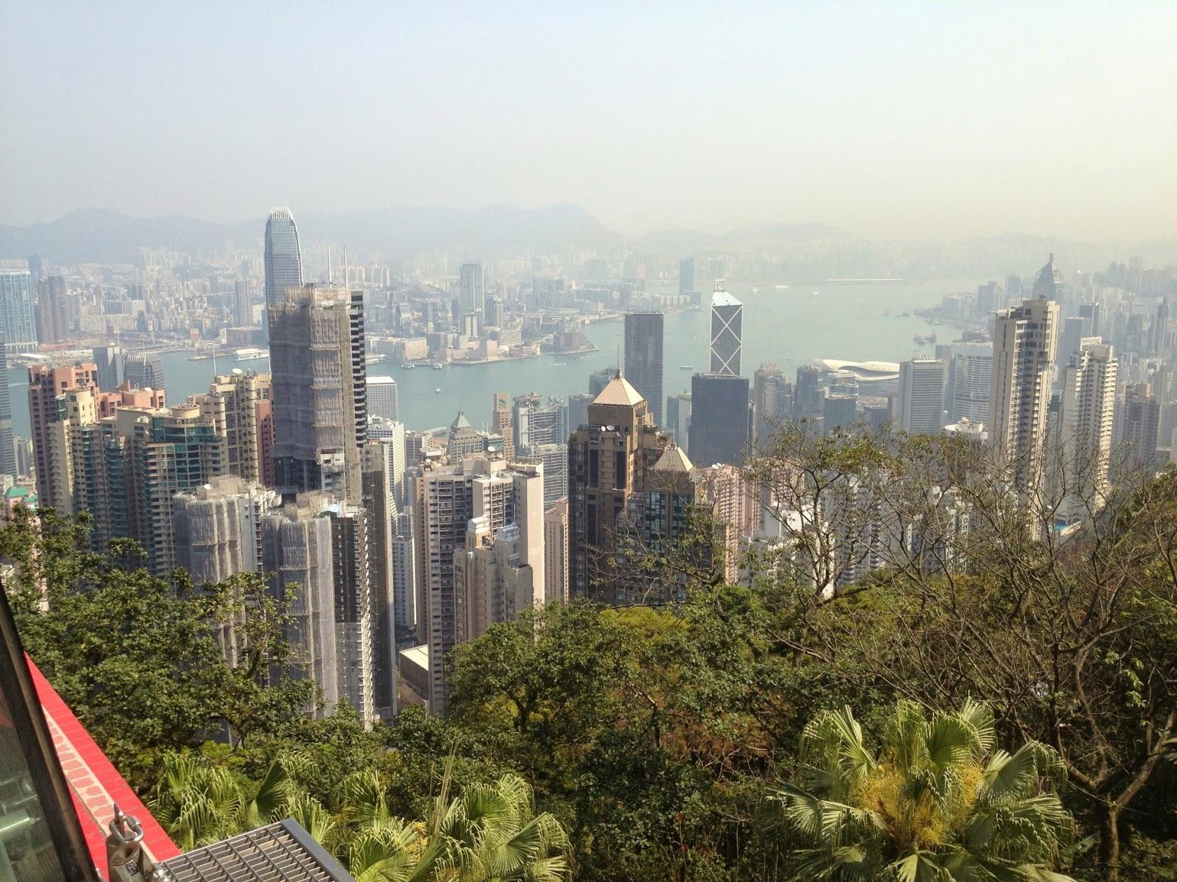 Utsikt från Victoria Peak i Hongkong