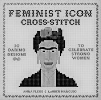 Feminist-icon cross-stitch